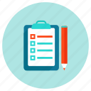 document, file, pencil, report icon