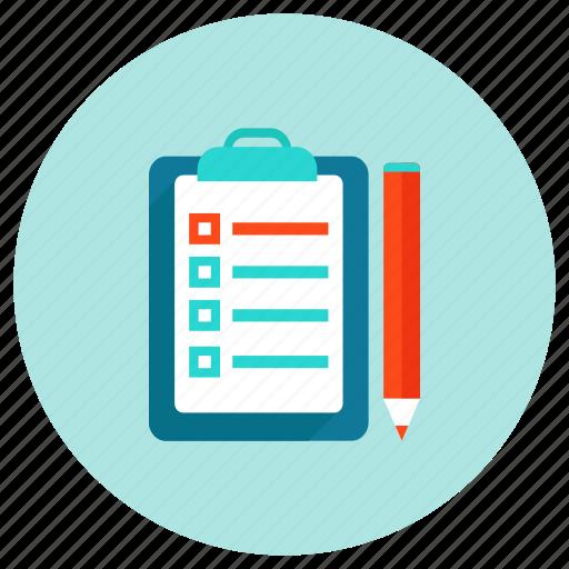 document, file, pencil, report icon