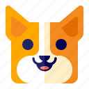 animal, corgi, dog, pet icon
