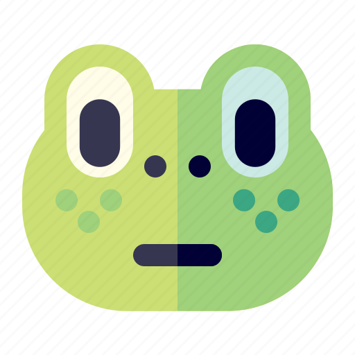 animal, cartoon, face, frog icon