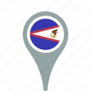 american, county, flag, map, national, pin, samoa icon