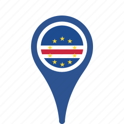 cape, country, county, flag, map, national, pin, verde icon