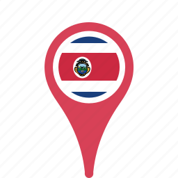 Costa Country County Flag Map National Pin Rica Icon Icon - County map of costa rica