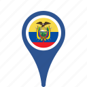 country, county, ecuador, flag, map, national, pin icon