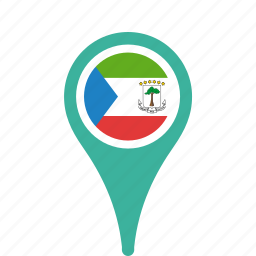 county, equatorial, flag, guinea, map, national, pin icon