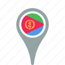 county, eritrea, flag, map, national, pin icon