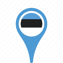 country, county, estonia, flag, map, national, pin icon
