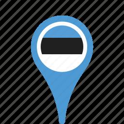county, estonia, flag, map, national, pin icon