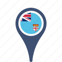 county, fiji, flag, map, national, pin icon