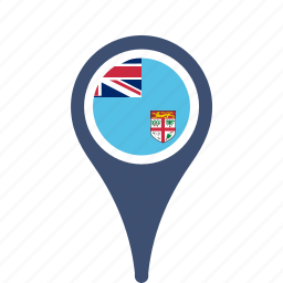 country, county, fiji, flag, map, national, pin icon