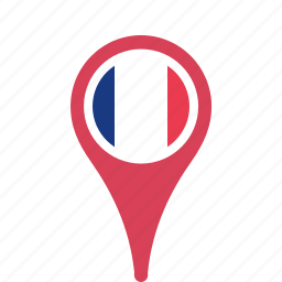 country, county, flag, france, map, national, pin icon