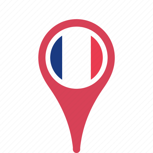 county, flag, france, map, national, pin icon