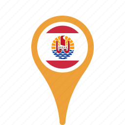county, flag, french, map, national, pin, polynesia icon