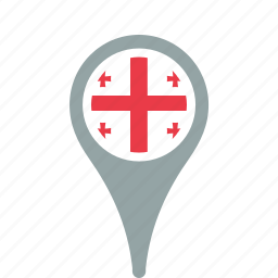 county, flag, georgia, map, national, pin icon
