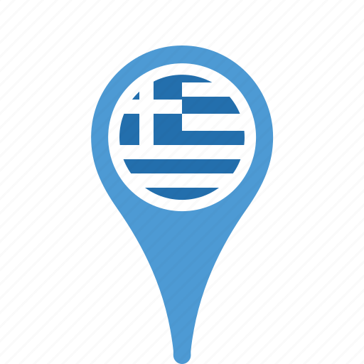 country, county, flag, greece, map, national, pin icon