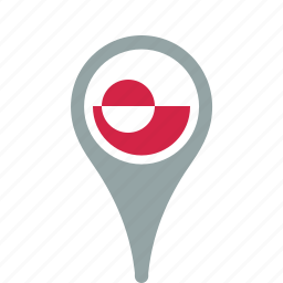 county, flag, greenland, map, national, pin icon