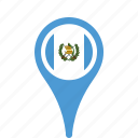 county, flag, guatemala, map, national, pin icon