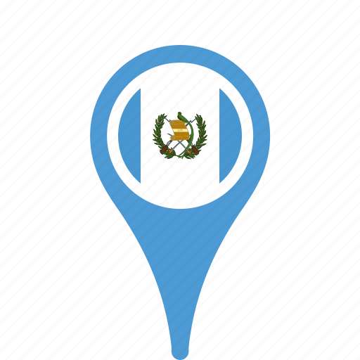 country, county, flag, guatemala, map, national, pin icon