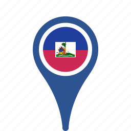 county, flag, haiti, map, national, pin icon