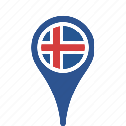 county, flag, iceland, map, national, pin icon