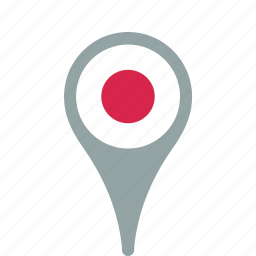 county, flag, japan, map, national, pin icon
