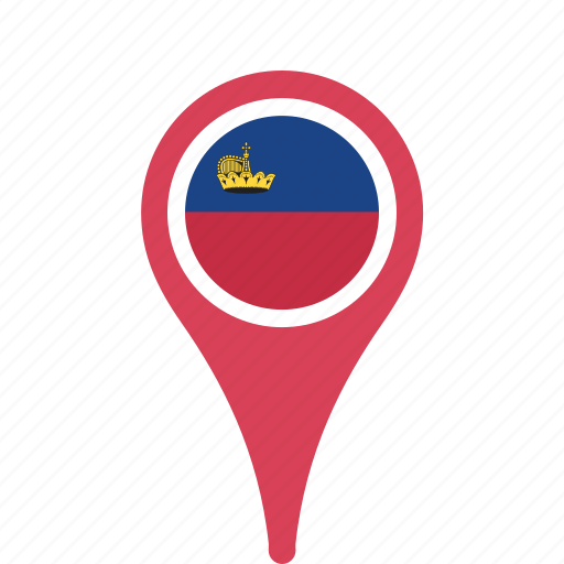 country, county, flag, liechtenstein, map, national, pin icon
