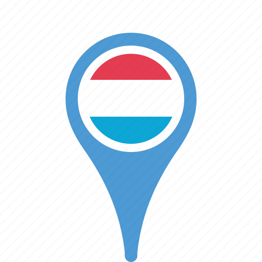 county, flag, luxembourg, map, national, pin icon