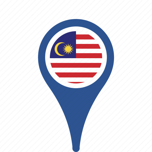 county, flag, malaysia, map, national, pin icon