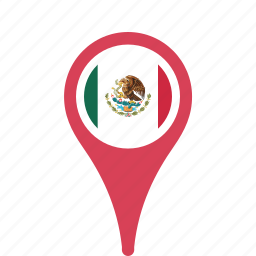 county, flag, map, mexico, national, pin icon