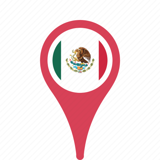 country, county, flag, map, mexico, national, pin icon