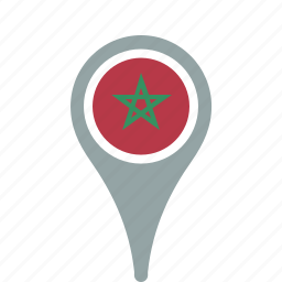 country, county, flag, map, morocco, national, pin icon