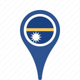 county, flag, map, national, nauru, pin icon