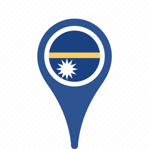 country, county, flag, map, national, nauru, pin icon