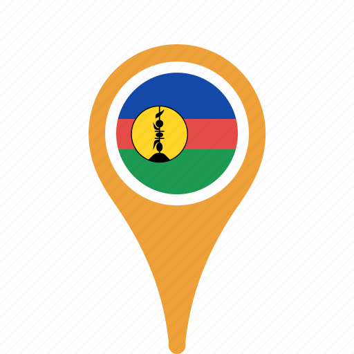 caledonia, county, flag, map, national, new, pin icon
