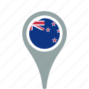 country, county, flag, map, national, new, pin, zealand icon