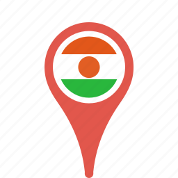 country, county, flag, map, national, niger, pin icon