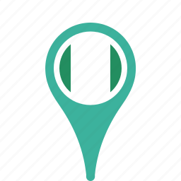country, county, flag, map, national, nigeria, pin icon