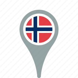 country, county, flag, map, national, norway, pin icon