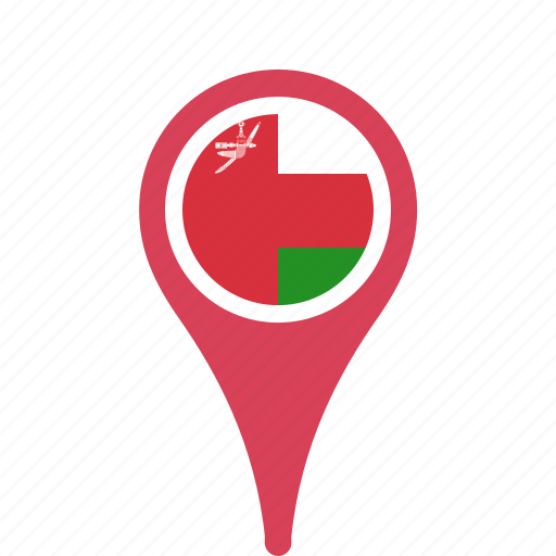 country, county, flag, map, national, oman, pin icon
