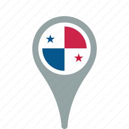 county, flag, map, national, panama, pin icon