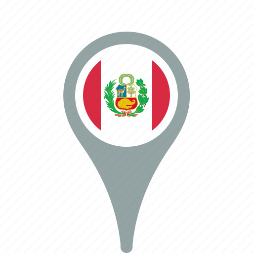 country, county, flag, map, national, peru, pin icon