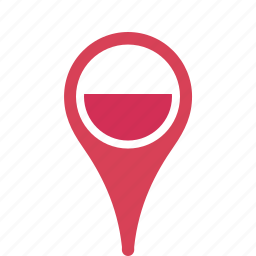 county, flag, map, national, pin, poland icon