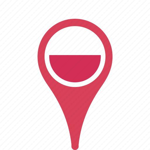 country, county, flag, map, national, pin, poland icon