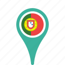 country, county, flag, map, national, pin, portugal