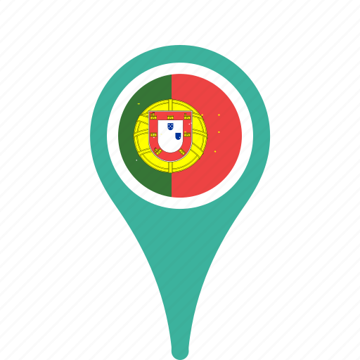 country, county, flag, map, national, pin, portugal icon