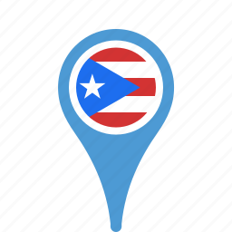 country, county, flag, map, national, pin, puerto, ricol icon