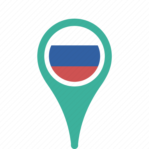 county, flag, map, national, pin, russia icon