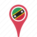 and, county, flag, kitts, map, national, nevis, pin, saint icon
