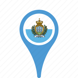 country, county, flag, map, marino, national, pin, san icon