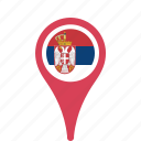 county, flag, map, national, pin, serbia icon